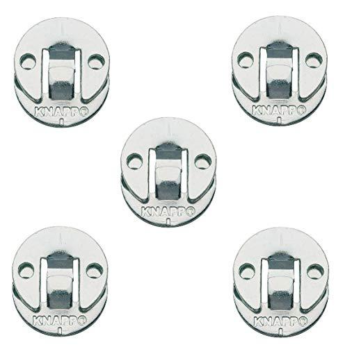 Gedotec Blenden-Verbinder Möbelverbinder zum Schrauben Verbindungsbeschlag aus Metall   DUO 30 ml   Einhänge-Verbinder für Treppen & Verkleidungen uvm.   5 Paar - Einhängebeschlag für Möbel & Betten