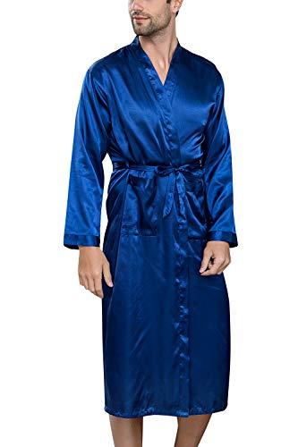 YAOMEI Albornoz Hombre Vestido Batas Kimonos Satén