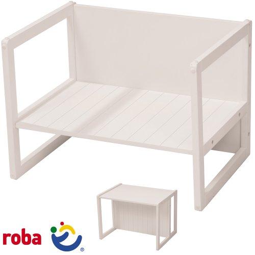 Bank Tisch Kombination mit 2 möglichen Sitzpositionen, 44x57x44cm: Kindertisch Kindersitzbank Kindermöbel Sitzbank Kinder Zimmer Holzbank