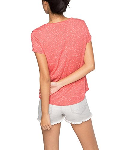 edc by Esprit 066cc1k015 Mit Druck, T-Shirt Femme Rot (CORAL RED 640)