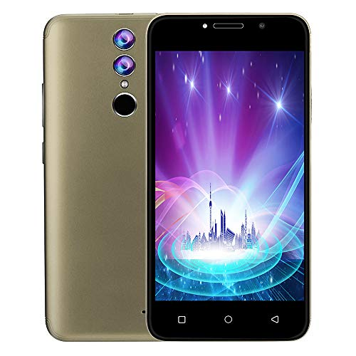 Wifi Handy Unlocked (Smartphone, Unlocked 3G LTE, Android 7.0 Handy Smartphone, Dual SIM 4 GB WiFi 5MP AT & T, 5,0 Zoll Kapazitiver IPS-Touchscreen (Gold))