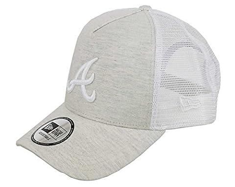 New Era Adjustable Trucker Cap - Atlanta Braves stone beige
