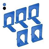 Percilun Pack de Sujetalibros Metálico Negro en forma de T. Organizador de...