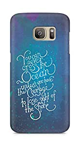 AMEZ you can never cross the Ocean Back Cover For Samsung Galaxy S7 Edge