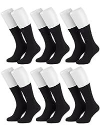 Tobeni 6 Paires de chaussettes de santé des hommes sans caoutchouc