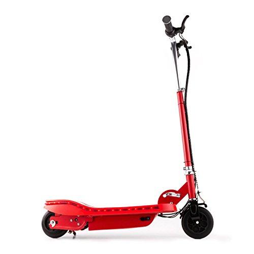 Takira V6 • Trottinette électrique • 120W • 15km/h • éclairage LED • 2 Freins • Rouge