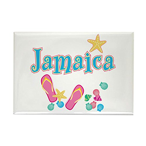 CafePress-Jamaika Flip Flops --Rechteck Magnet, 5,1x 7,6cm Kühlschrank Magnet