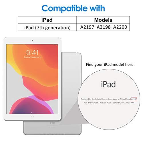 JETech Funda Compatible con iPad 7 (10, 2 Pulgadas,  2019 Modelo,  7ª Generación),  Carcasa con Auto- Sueño/Estela,  Negro