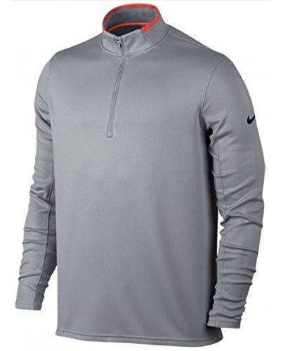 Nike Golf Dri-Fit 1/Technische 2-zip LS–Shirt langarm für Herren XL grau