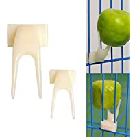 Plastica Pet Parrot forchetta frutta uccelli del cibo feeder dispositivo pin Clip Pappagallino canarino feeder forniture dispositivo, pezzi