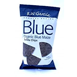 Rw Garcia Organic Blue Corn Tortilla Chips, 150 G, Pack Of 12
