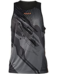Luanvi Cro Thunder Camiseta Tirantes, Hombre, Negro / Naranja, L