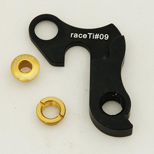 Schaltauge CNC Bianchi FOCUS Fuji Iron Horse KHS Kona Marin Viper Tandem - von raceTi CNC 6061 (gelb Bolt) (Haro Schaltauge)