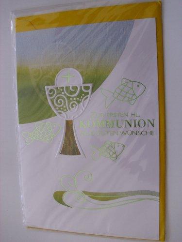 Kommunion Karte zur Kommunion Glückwunschkarte Grusskarte Geschenkkarte