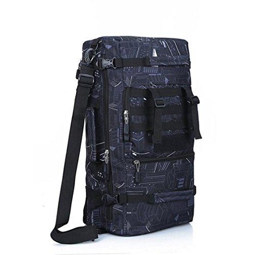 Wmshpeds Escursionismo Travel Anti - strappo alpinismo impermeabile Borsa Zaino sportivo 50L ampia capacità confezione tripla C