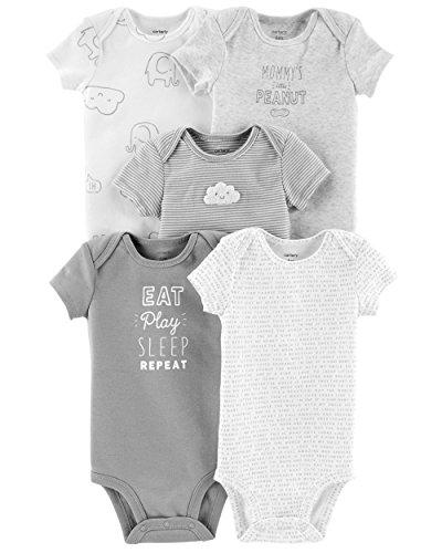 Carter's Baby Strampler für Jungen, 5er-Pack Gr. 9 Monate, Eat Play Sleep Repeat, Usa Infant Bodysuit