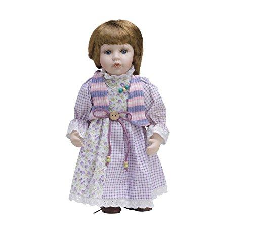 Muñeca de Porcelana de 30 cms con soporte. MARTINA - BAM008