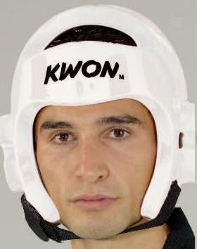 KWON® Taekwondo Kopfschutz 40063 PU CE Weiß WTF Kopfschützer - M