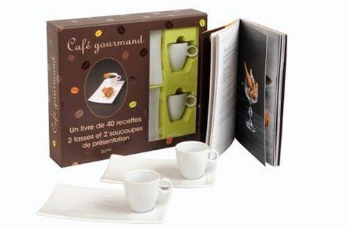 Coffret Café gourmand : Un livre de 40 recettes, 2 tasses et 2 soucoupes de présentation par Philippe Mérel