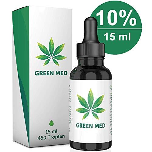 GREEN MED | 15 ml - 450 Tropfen | Premium Qualität | Kontrolliert & Natürlich - Made in Germany