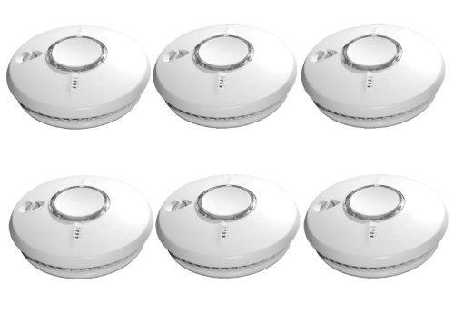 """ST-620 DET Rauchmelder """"6er-SET"""" Thermo-optisch 10-Jahre Garantie auf Produkt + Batterie"""