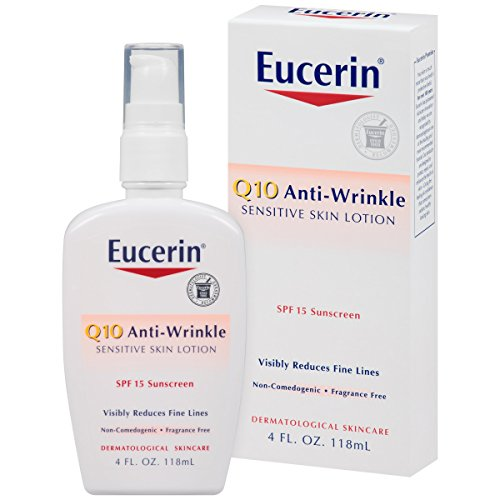 Eucerin Sensitive Facial Skin Q10 Anti-Wrinkle Sensitive Skin Lotion SPF#15 120 ml