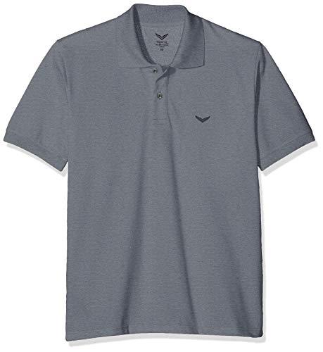 Trigema Herren 627601 Poloshirt, Grau (Steingrau-Melange 246), (Herstellergröße: XX-Large) - Lila Baumwoll-piqué