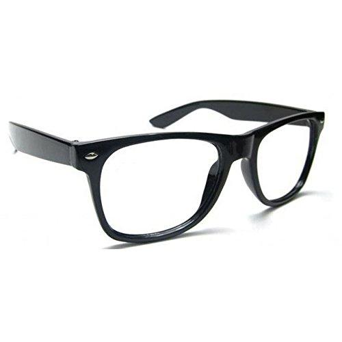 NEW UNISEX (Damen Herren) Retro Vintage Lesebrille Brille +0.50 +0.75 +1.0 +1.5 +2.0 +2.5 +3.00 +4.00 Reading glasses MFAZ Morefaz Ltd (+2.00, Black)