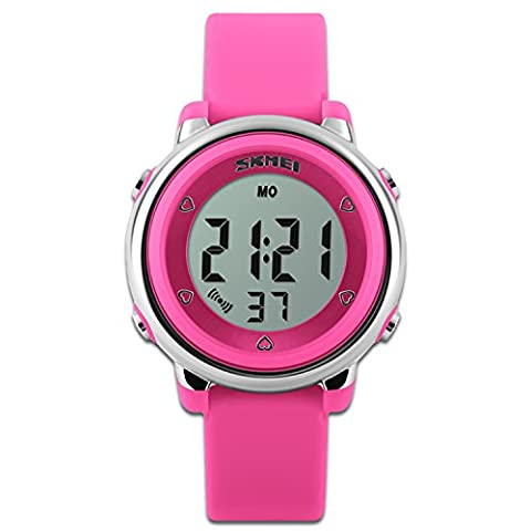 Children's Watches Sport Watch Red Stopwatch Function LED Backlight Dial