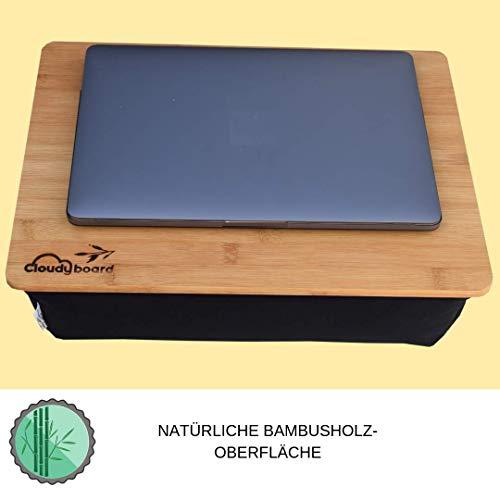 Modern Laptray Knietablett Laptopkissen Notebook mit kissen aus Bambusholz