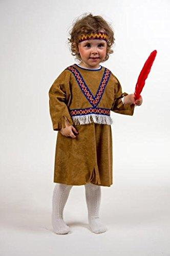 Kleid Indianerin Freche Taube Kinderkostüm Größe 98/104 (Taube Kostüme)