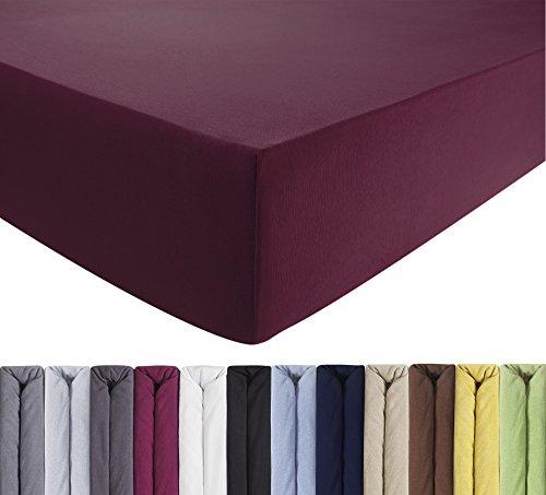 ENTSPANNO Jersey-Luxus-Spannbettlaken 140 x 200 | 160 x 220 cm für Wasser- und Boxspringbett aus gekämmter Baumwolle. Spannbetttuch mit Einlaufschutz, bis 40