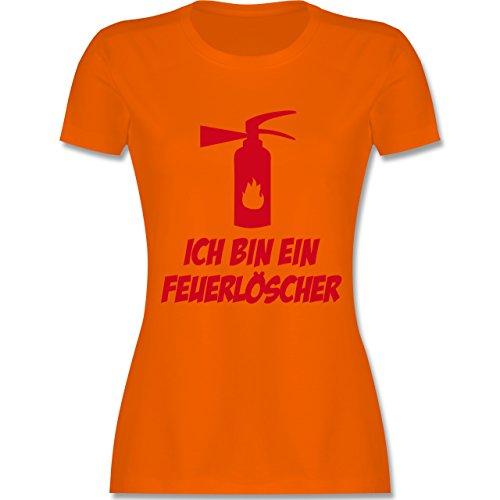Feuerwehr - Ich bin ein Feuerlöscher - tailliertes Premium T-Shirt mit Rundhalsausschnitt für Damen Orange