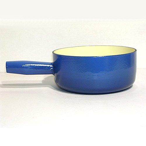 Poêlon Fonte Émaillée 20 cm Bleu*