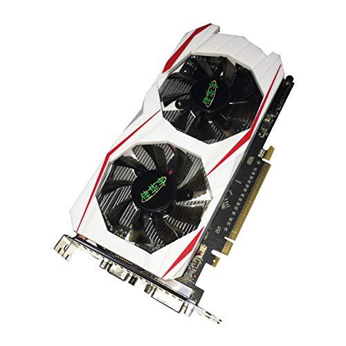 Heraihe Grafikkarte NVIDIA GTX750TI 2GB GDDR5 Speicher 128Bit Grafikkarte mit hohen Bandbreite Gaming-Grafikkarte mit HDMI VGA-DVI-Anschlüssen Schnittstelle, für GeForce Desktop-Computer