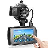 Z-Edge Caméra de Tableau de Bord GPS FHD 1080p à écran Tactile 3,0' pour Voiture avec capteur G,...