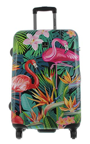 Saxoline - Maleta Exotic Flamingo M 67 cm