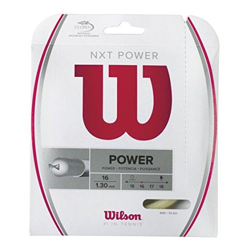 Wilson Unisex Tennissaite NXT Power, natur, 12,2 Meter, 1,30 mm, WRZ941600