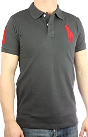 Polo by Ralph Lauren Polo pour homme Big Pony coupe slim (Gris/rouge)
