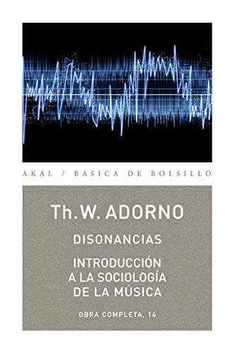 Disonancias / Introducción a la sociología de la música (Básica de Bolsillo) por Theodor W. Adorno