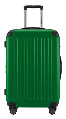 HAUPTSTADTKOFFER® 3er Reisekofferset · SPREE · TSA · MATT · NEU 4 Doppel-Rollen · (in 12 Farben) + LogiLink® Flugzeug Audio Adapter (Cyan Blau) Grün