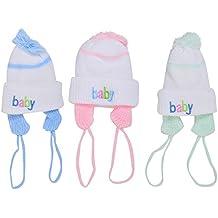 Baby Bucket Premium Quality Baby Girls & Boys Woollen Material Baby Cap Set of 3