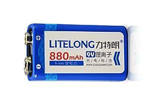 Pile 9V Rechargeable Li-ion 880mAh Litelong