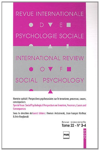 Revue Internationale de Psychologie Sociale, N° 22-3-4, 2009 :