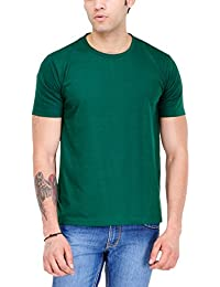 Envy Plus Men's Biowash Cotton Basic Round Neck T-shirt - Bottle Green