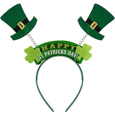 St Patrick's Day Headband With Leprechaun Hats Fancy Dress Accessory x 2 Pack
