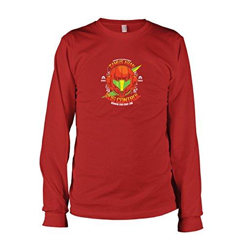 TEXLAB - Samus Bug Control - Herren Langarm T-Shirt, Größe L, (Samus Metroid Kostüm)
