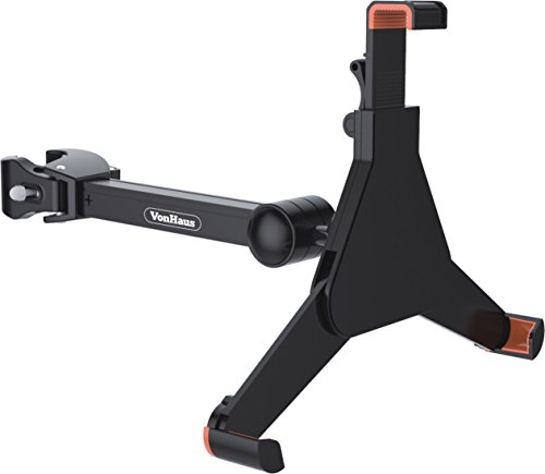 "VonHaus Tablet Mount Clamp Bracket for Music / Microphone Stand Universal Suitable for 8.9"" - 10.4"" tablet or iPad"