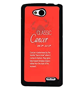 Fuson Premium Classic Cancer Metal Printed with Hard Plastic Back Case Cover for LG L90 Dual