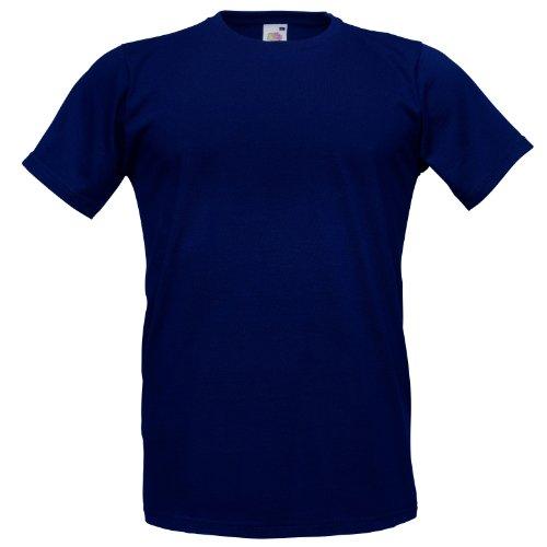 Fruit of the Loom Herren T-Shirt Blau - Deep Navy